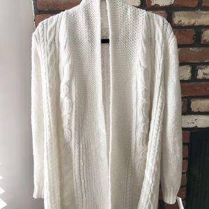 Sweaters - White knit cardigan